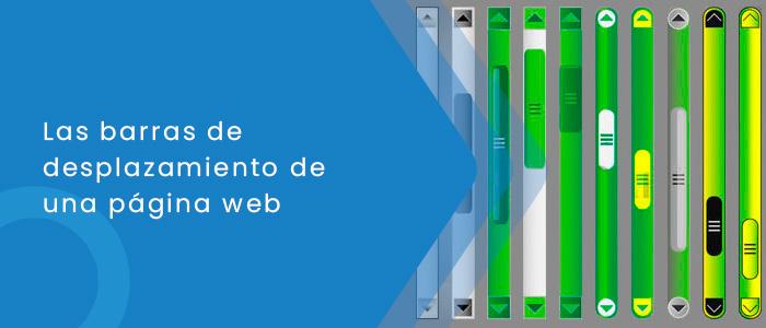Las barras de desplazamiento de una página web